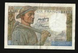 FRANCE 10 FRANCS 1949 P#99f VF+ - 1871-1952 Antichi Franchi Circolanti Nel XX Secolo