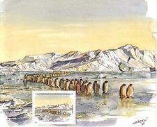 Polaire Antarctique - TAAF 2001 - Feuillet Du Carnet De Voyage 316 ** : ARRIVEE DES MANCHOTS EMPEREURS - Neufs