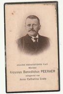 Doodsprentje Aloysius Benedictus PEERAER Echtg. Snels Wortel 1854 Turnhout 1924 - Images Religieuses