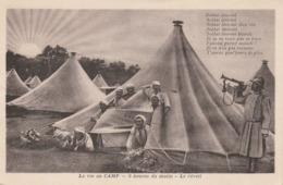 MILITARIA 5 HEURES DU MATIN LA VIE AU CAMP - Guerre 1914-18