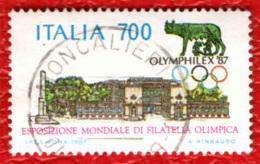 ITALIA - 1987 - ESPOSIZIONE MONDIALE DI FILATELIA OLIMPICA - USATO - 1981-90: Oblitérés
