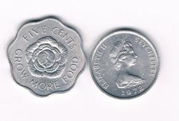 5 + 1 CENT 1972 SEYCHELLEN /6965/ - Seychelles