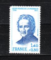 Francia  - 1980.  Jean M. De La Mennais, Sacerdote Dell' 800 Educatore Dei Giovani. Priest  Educator Of Young People.MNH - Celebrità