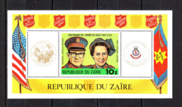 Zaire  - 1980. Armee Du Salut Aux USA: Generale Brown E Sua Moglie. MNH - Primo Soccorso