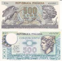 ITALIE - 2 BILLETS DE 500 L - [ 2] 1946-… : République