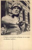 1944-Caduta Del Fascismo, L'Italia E' Stata Gettata Nel Fango Da Un Pugno Di Vilissimi Traditori Cartolina Viaggiata - Guerra 1939-45