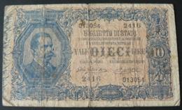 ANCIENT  BEAUTIFUL BANKNOTES OF 10 LIRE N° 2416013054 ...OF HIGH  VALUE /  ANTICA BELLA BANCONOTA - [ 1] …-1946 : Koninkrijk