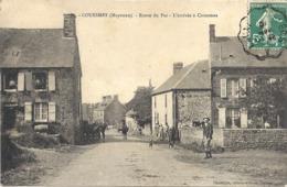CPA Couesmes Route Du Pas L'arrivée à Couesmes - France