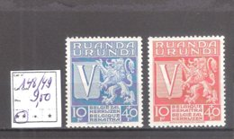 RUANDA-URUNDI N° 148/49 ** MNH. - 1924-44: Neufs