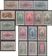 Moyen Congo - N° 72 à 88 (YT) N° 72 à 88 (AM) Neufs *. - Congo Francés (1891-1960)