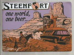 """Cp En Tole , 20.5 X 16.5 , Traduction """"one World, One Beer"""" -un Monde Une Bière.. STEENFORT, Vierge , Frais Fr : 3.15€ - Cartoline"""