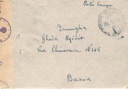 """1945-lettera Con Testo """"Posta Da Campo / D / 18.1.45"""" Indicazione Manoscritta PDC N. 87137 F, Il Mittente Indica Nella L - 4. 1944-45 República Social"""