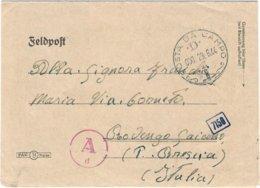 """1944-biglietto Postale """"Posta Da Campo / D / 21.1.45"""" Indicazione Manoscritta Feldpost 84345 F. Nel Testo Il Mittente Me - 4. 1944-45 República Social"""