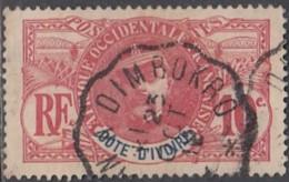 Côte D'Ivoire 1892-1912 - Ambulant De Abidjan à Dimbokro Sur N° 25 (YT) N° 25 (AM). Oblitération. - Costa De Marfil (1892-1944)