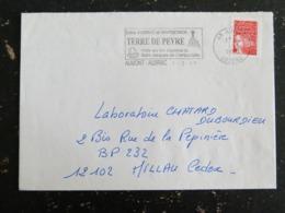 AUMONT AUBRAC - LOZERE - FLAMMETERRE DE PEYRE SAINT JACQUES COMPOSTELLE SUR MARIANNE LUQUET - Marcofilia (sobres)