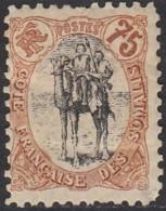 Côte Française Des Somalis 1894-1903 - N° 63 (YT) N° 63 (AM) Neuf *. Aminci. - Costa Francesa De Somalia (1894-1967)