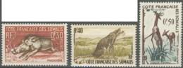 Côte Française Des Somalis 1941-1958 - N° 287 à 289 (YT) N° 289 à 291 (AM) Neufs **. - Côte Française Des Somalis (1894-1967)