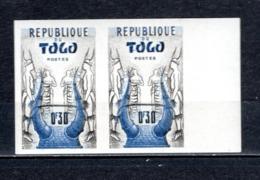TOGO N° 278 NON DENTELE EN PAIRE   NEUF SANS CHARNIERE COTE ? €  CASQUE   VOIR DESCRIPTION - Togo (1960-...)