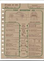TRIUMPH  TR2   TR3    Fiche Technique Descriptive RTA Aout 1961 1961 - Vieux Papiers