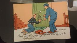 CP  -  Vous Permettez Que Je Prenne Ma Clé Sous Le Paillasson !!!.... - Humour