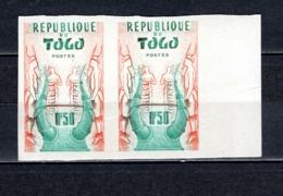 TOGO N° 279 NON DENTELE EN PAIRE   NEUF SANS CHARNIERE COTE ? €  CASQUE   VOIR DESCRIPTION - Togo (1960-...)
