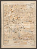 CARTE PLAN 1928 - MULHOUSE CENTRE VILLE BAINS PISCINE SINAGOGUE USINE à GAZ DIOCANAT ÉCOLE KOECHLIN HOSPICE ISRAÉLITE - Topographical Maps