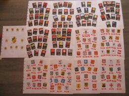 185 étiquettes Boites D'allumettes Safety Matches - Marque Végé Mini Mix Belgique - Pays Drapeaux Flags Armoiries - Matchbox Labels
