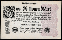 Pick104 Ro103c DEU-116c  2 Million Mark 1923 NEUF - [ 3] 1918-1933 : Repubblica  Di Weimar
