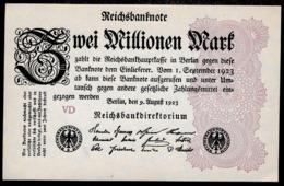 Pick104 Ro103c DEU-116c  2 Million Mark 1923 NEUF - [ 3] 1918-1933 : République De Weimar