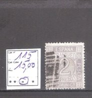 Espagne : N ° 115 Oblitéré . Cote Yvert : 15,00 €. - Gebraucht