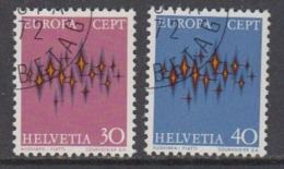 Europa Cept 1972 Switzerland 2v Used 1st Day (44858A) - 1972