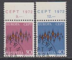 Europa Cept 1972 Switzerland 2v Used 1st Day (44858B) - 1972