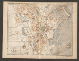 CARTE PLAN 1928 - BELFORT FORT HATRY CASERNE FRIEDRICHS Ste ALSACIENNE DE CONSTRUCTION MECANIQUE DOLIFUS MIEG - Topographical Maps
