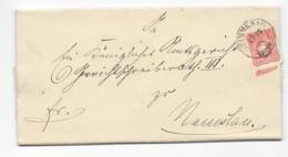 DR Brief EF Krone/Adler Mi.41 Simmenau Nach Namslau 1886 Schlesien - Allemagne