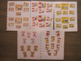 PANDA Brand EFTELING Kaatsheuvel Margarine Bloem Farine Riz Café - 56 étiquettes Boites D'allumettes Safety Matches - Matchbox Labels