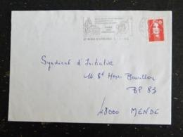 SAINT ALBAN SUR LIMAGNOLE - LOZERE - FLAMME CHEMIN SAINT JACQUES COMPOSTELLE FOIRE FROMAGES SUR MARIANNE BRIAT - Poststempel (Briefe)