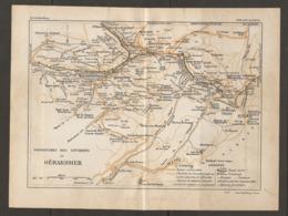 CARTE PLAN 1928 - PROMENADES ET ENVIRONS DE GERARDMER CHEMIN DE FER TRAMWAYS KIOSQUES FONTAINES - Cartes Topographiques