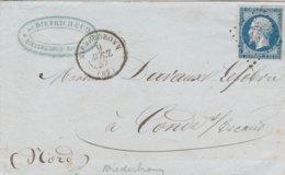 France Lettre Niederbronn 1857 - Postmark Collection (Covers)