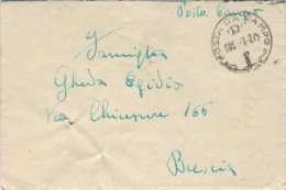 """1945-lettera Con Testo """"Posta Da Campo / D / 3.2..45"""" Indicazione Manoscritta PDC N. 87137 F, Il Mittente Indica Nella L - 4. 1944-45 Repubblica Sociale"""
