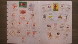 Expo 58 1958 Bruxelles Café Cafétéria Restaurant Hotel Breda Tilburg - 32 étiquettes Boites D'allumettes Safety Matches - Matchbox Labels