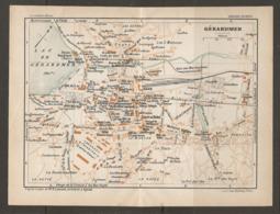 CARTE PLAN 1927 - GERARDMER LE TREXEAU LES XETTES FORGOTTE LA RAVEE LES 3 MAISONS CASINO - Topographische Karten