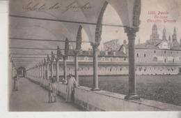 Pavia Certosa Chiostro Grande  Antica Cartolina Annullo Torre Del Mangano - Pavia