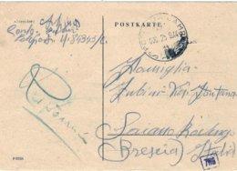"1944-postkarte ""Posta Da Campo / D / 25.9..44"" Indicazione Manoscritta Feldpost 84345 C - 4. 1944-45 República Social"