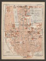 CARTE PLAN 1927 - NANCY CENTRE VILLE CASERNE THIRY MANUFACTURE Des TABACS LYCÉE HENRI POINCARÉ - Topographische Karten