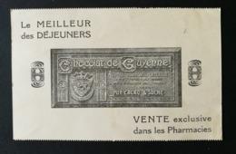 Carte A.Roudel & Cie Avec Publicité Chocolat De Guyenne.Perforé A.R. - Perforés