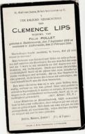 Ruddervoorde, Lichtervelde, 1924, Clemence Lips, Pollet - Images Religieuses