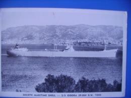 Societe Maritime Shell S/s Isidora Inédite Cachet Libye - Petroliere