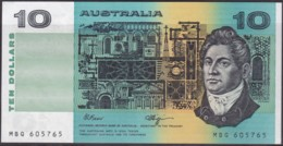 Australia $10 Fraser - Higgins Uncirculated MBQ605765 - 1974-94 Australia Reserve Bank (paper Notes)