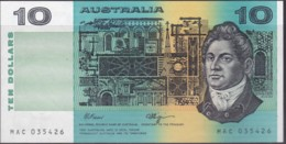 Australia $10 Fraser - Higgins Uncirculated MAC 035426 - Emisiones Gubernamentales Decimales 1966-...