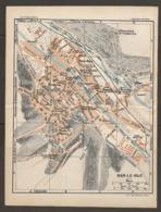 CARTE PLAN 1927 - BAR LE DUC USINE BRADFER MARBOT BUTTE FAREMONT SYNAGOGUE PANORAMA - Cartes Topographiques